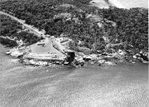 Jetty under construction, Australian Institute of Marine Science, Turtle Bay, aerial view