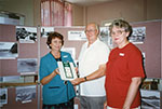 Mr John Mathew and Librarians Joycelyn Brent and Cecilia O'Donnell at the launch of the publication Highways and Byways: the origins of Townsville street names, Townsville, 1995